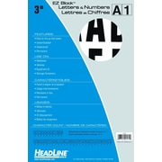 "HeadLine® 3"" EZ Block Letters and Numbers  -  Black/White"