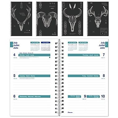 Blueline® - Agenda scolaire hebdomadaire 2016/2017, 8 po x 5 po, trilingue, motifs Antlers variés