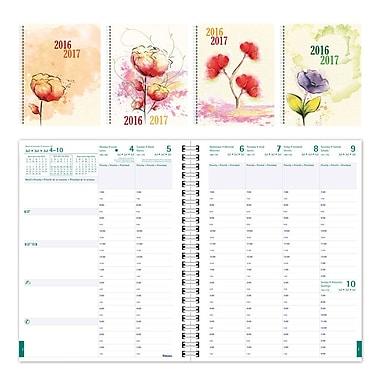 Blueline® - Agenda scolaire hebdomadaire 2016/2017, 11 po x 8 1/2 po, trilingue, motifs floraux variés