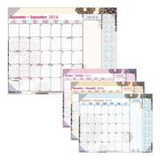 Blueline® - Calendrier scolaire sous-main mensuel 16 mois 2016/2017, 22 po x 17 po, bilingue, motif Mandala