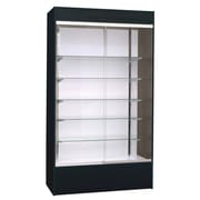 KC Store Fixtures Wall Display Case with LED Light; Black