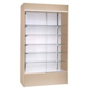 KC Store Fixtures Wall Display Case with LED Light; Maple