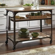 Donny Osmond Kitchen Cart with Wood Top