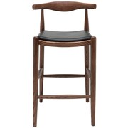 Nuevo Maja Bar Stool; Walnut  Black