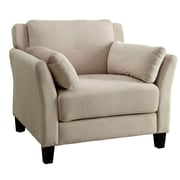 A&J Homes Studio Fabric Arm Chair; Beige