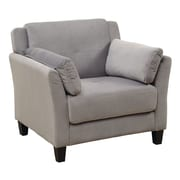 A&J Homes Studio Fabric Arm Chair; Gray