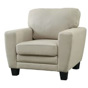 A&J Homes Studio Natali Fabric Foam Cushion Arm Chair; Beige