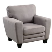 A&J Homes Studio Natali Fabric Foam Cushion Arm Chair; Gray