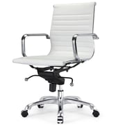 Meelano M344 Vegan Leather Executive Office Chair, White (344-WHI)