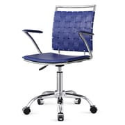 Meelano M356 Bonded Leather Mid-Back Office Chair, Blue  (356-BLU)