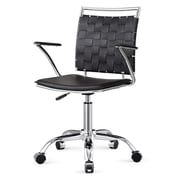Meelano M356 Bonded Leather Mid-Back Office Chair, Black  (356-BLK)