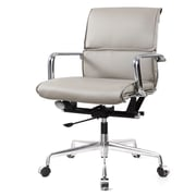 Meelano M330 Genuine Vegan Leather executive Office Chair, Grey (330-GRY)
