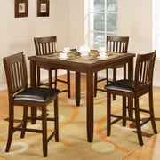 Roundhill Furniture Zoho 5 Piece Counter Height Dining Set