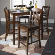 Roundhill Furniture 5 Piece Counter Height Dining Set