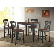 Roundhill Furniture Anja 5 Piece Dining Set