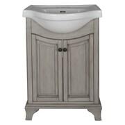 Hazelwood Home Corsicana 25.75'' Bathroom Vanity Set; Antique Gray