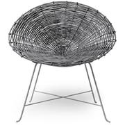 Bloomingville Braided Rattan Papasam Chair; Gray/Gray