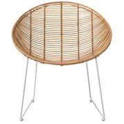 Bloomingville Braided Rattan Lounge Chair; Natural/White