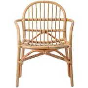 Bloomingville Rattan Arm Chair; Natural