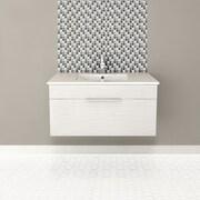 Cutler Kitchen & Bath Textures 36'' Single Floating Vanity Set; Contour White