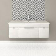 Cutler Kitchen & Bath Textures 48'' Single Floating Vanity Set; Contour White
