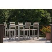 Elan Furniture Loft 7 Piece Counter Bar Set; Black