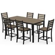 Elan Furniture Loft 7 Piece Counter Bar Set; Sand