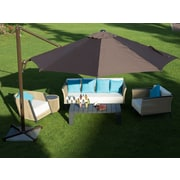 Abba Patio 11' Cantilever Umbrella; Chocolate