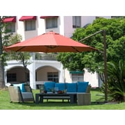 Abba Patio 11' Cantilever Umbrella; Dark Red