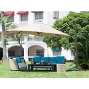 Abba Patio 11' Cantilever Umbrella; Tan