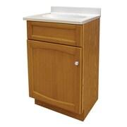Hazelwood Home 19'' Single Bathroom Vanity Set; Genuine Oak