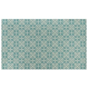 Ruggable Aqua Blue and White Area Rug; 5' x 7'