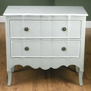 AA Importing 2 Drawer Chest; Gray / White
