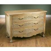 AA Importing 3 Drawer Chest; Pickled