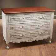 AA Importing 3 Drawer Chest; White