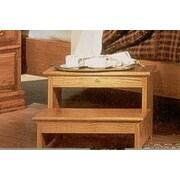 Bebe Furniture Country Heirloom 2-Step Wood Step Stool