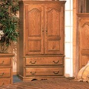 Bebe Furniture Country Heirloom Large TV Armoire; Medium Wood
