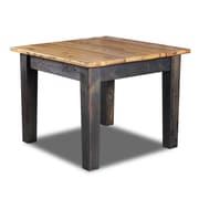 Vintage Flooring and Furniture Farm Bar Height Dining Table; Natural / Ebony