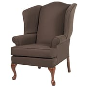 Comfort Pointe Erin Wing Back Chair; Brown