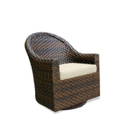 Castellano by Ancient Mosaic Studios Breakers Swivel Lounge Chair with Cushion; Canvas Birds Eye