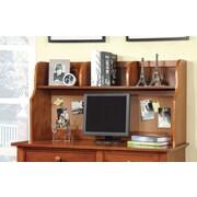 Hokku Designs Bedford 24'' H x 42.13'' W Desk Hutch; Oak