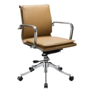 VIG Furniture Modrest Mindie Low-Back Leather Office Chair with Arms