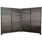 Moe's Home Collection 72'' x 119'' Damani 2 Panel Room Divider; Black