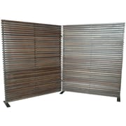Moe's Home Collection 72'' x 119'' Damani 2 Panel Room Divider; Brown