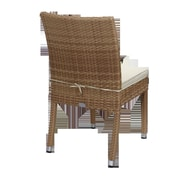 Rattan Outdoor Furniture Brighton 9 Piece Dining Set with Cushions; Beige