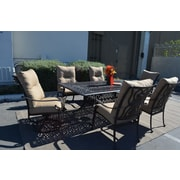 K B Patio Florence 7 Piece Patio Set by