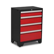 NewAge Products Bold 3.0 Series 4 Drawer Tool Cabinet; Red