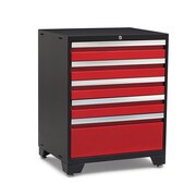 NewAge Products Pro 3.0 Series 5 Drawer Tool Cabinet; Red