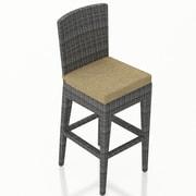 Harmonia Living District 28.25'' Bar Stool with Cushion; Heather Beige