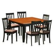 Wooden Importers Parfait 7 Piece Dining Set; Microfiber Upholstery